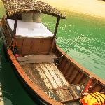 the wooden boat for local fishing tour