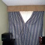 Pinned drapes to block viewers from outside