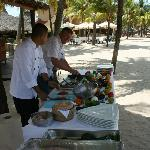 Private beach front cooking class