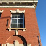 Exterior of 1914 building, built with 850,000 bricks from Coffeyville, KS