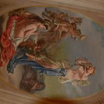  One of the love scenes depicted in the Frescos in the dining room