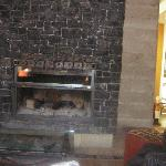 Fireplace on the lobby