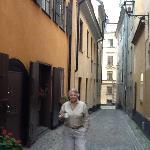 My mom in front of Old Town Lodge