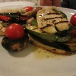 Grilled vegetables with halloumi cheese & spearmint vinaigrette