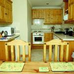 Kitchen & dining area at Tregurrian Villas