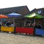 Lovely colourful outdoor seating