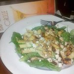 Mediterranean Salad with chicken at Bay Haven Grille