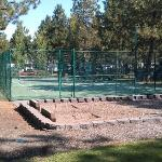 Tennis court/horseshoes