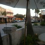 From the outdoor patio...looking down Center Street toward the beach...
