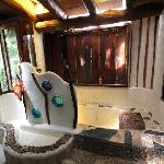  the bath in the house with rain shower