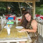  Shelley and a pair of $4 Pina Coladas, Bank Restaurant, Nai Yang Beach