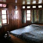 one of the rooms, full wooden interiors