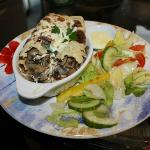 Creamy Mushroom Savoury Pancake (with salad cream dressing on the side!) £6.95