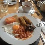  full english breakfast vegetarian option