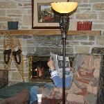 visitng areas between rooms--fireplace--cozy