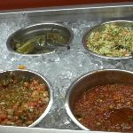 lots of fresh salsa choices