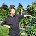 Chef Guillame in the garden