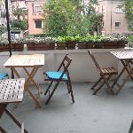 The very nice terrace! (breakfast)