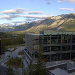  View from top floor, Sally Borden Building, Banff Centre, Banff, AB, Canada