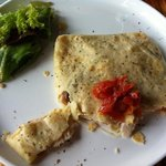 Super yummy turkey crepe.