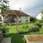  The rear of the B&amp;B and the garden