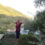 In the olive & lemon garden with a great view of the Cinque Terre