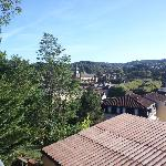  View of Sarlat from breakfast deck area