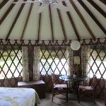  inside yurt