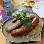  Three types of sausages (one has rosemary in it).