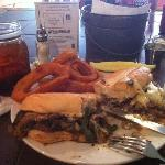 Philly Cheese Steak & Onion Rings