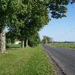 Quiet country road in front of Hayward House