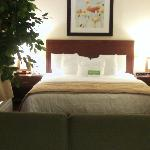 Comfortable King size bed in Executive Suite - Room 229