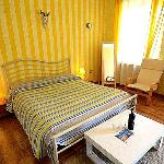 Yellow room with seaview