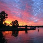 Sunset looking up Noosa River taken from our 'Side Deck'.