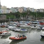 the harbour in tenby