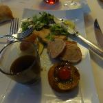 One of the many fine starter with Foie gras