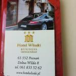 business card Hotel Wloski