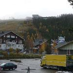 View from nearby the hotel towards Levi Panorama & Summit in September