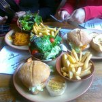 Burger, Chips, Salad & Perinaise, my fav combination