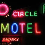 Retro neon. You won't miss the Circle R at night.
