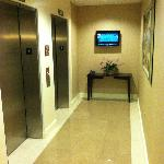  flat panel TV outside elevator