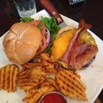 Delicious cheeseburger w/ choice of salad waffle fries or sweet potato fries.