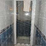 Shower room, on arrival
