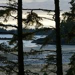 Bella Pacifica, view from the campsite. Mackenzie Beach.