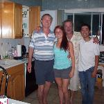  From left to right, the happy owner, Ron, a Guest, Melody, who made the summer of 2012, happier!