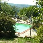 Lovely pool with great view at Todi