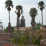  Vue sur la mosque Koutoubia  partir de la terrasse du riad.