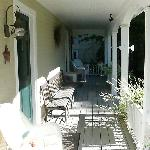 A picture of the porch