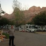 RV park at sunset