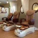 Relax in one of our Massaging Pedicure  Chairs